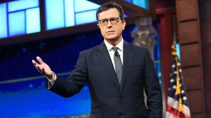 Stephen Colbert Can't Get Ratings Without Trump open