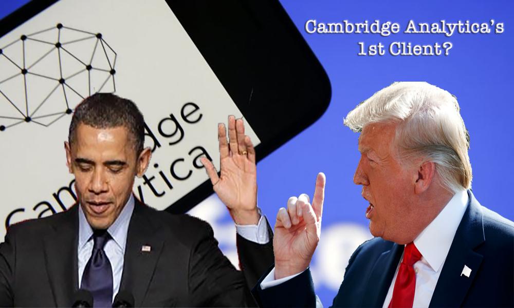Was Donald Trump Cambridge Analytics First Client?